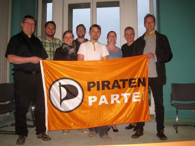 Piratentreffen im Dresdner Rathaus